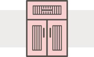 Beadboard cabinet doors