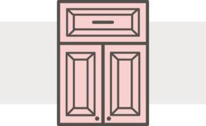 Traditional square raised cabinet doors